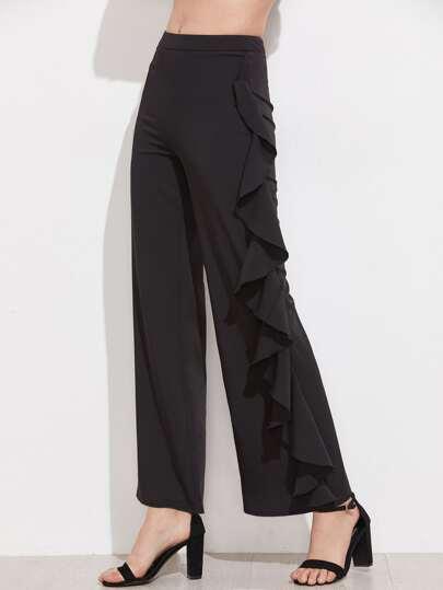 Pantaloni con fondo ampio e volant