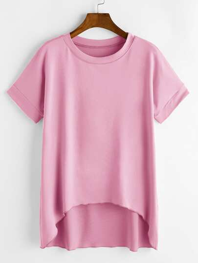 Camiseta del palmo del dobladillo del dobladillo
