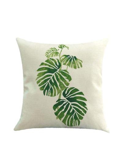 Taie d'oreiller imprimé des plantes