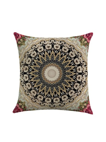 Symmetrical Pattern Print Pillowcase Cover