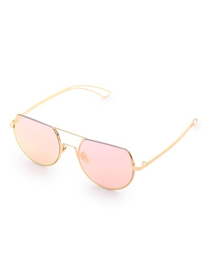 Flat Top Double Bridge Sunglasses
