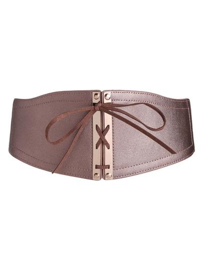 Bow Tie Front PU Obi Belt