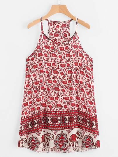 Cami Kleid mit Vintagemuster