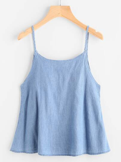 Denim Dungaree Cami Top