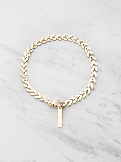 Bracelet en forme des feuilles avec la chaîne