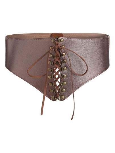 Lace Up Corset Belt