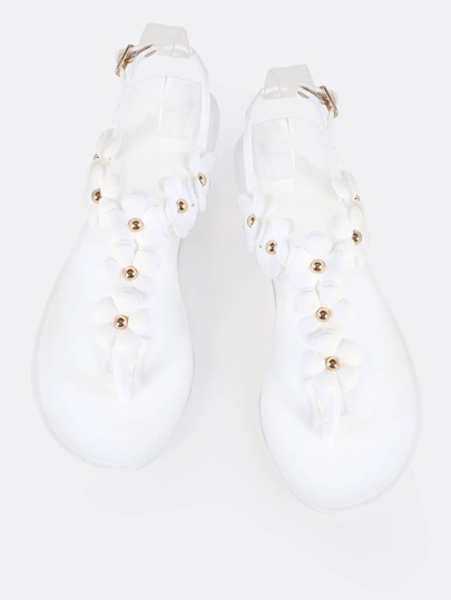 Floral Jelly Sandals WHITE