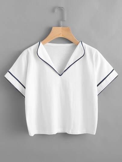 T-Shirt mit Neckholder