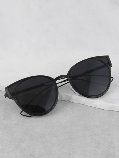 Clubmaster Rimmed Sunglasses BLACK