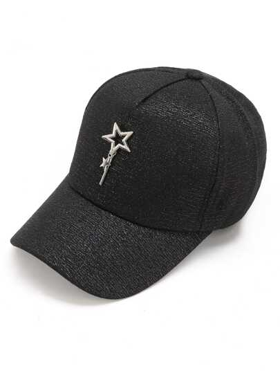 Star & Bar Embellished Baseball Cap