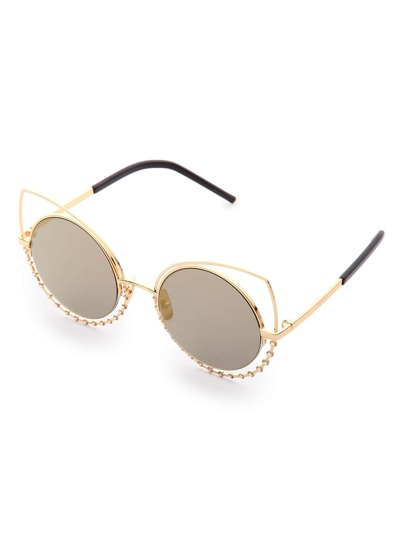 Cat Eye Round Lens Sunglasses