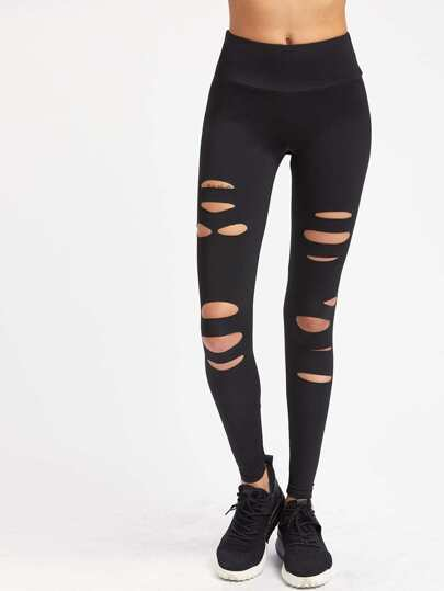 Leggings da palestra con cut-out