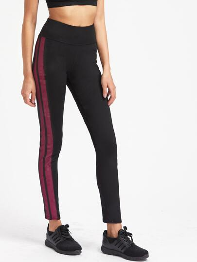 Active Contrast Panel Gym Leggings