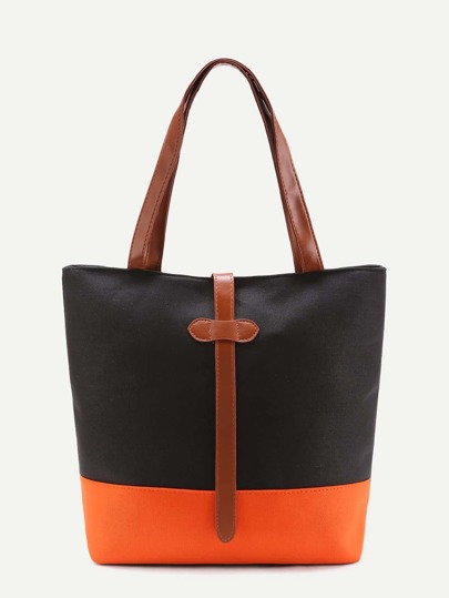 Sac fourre color-block en PU
