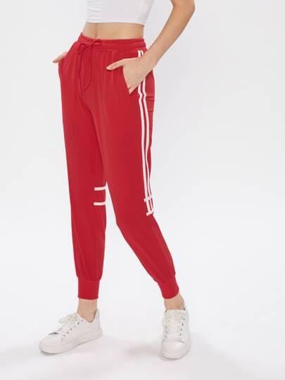 Pantaloni della tuta a strisce
