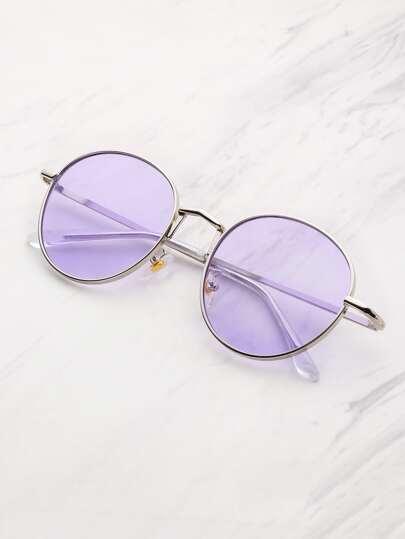 Gafas de sol con lentes planas teñidas