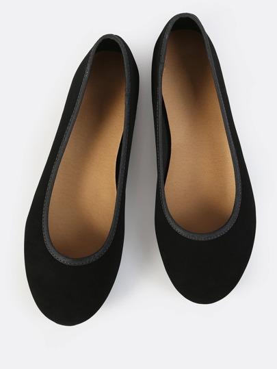 Classic Nubuck Ballet Flats BLACK