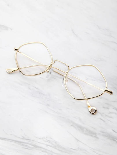Contrast Frame Clear Glasses