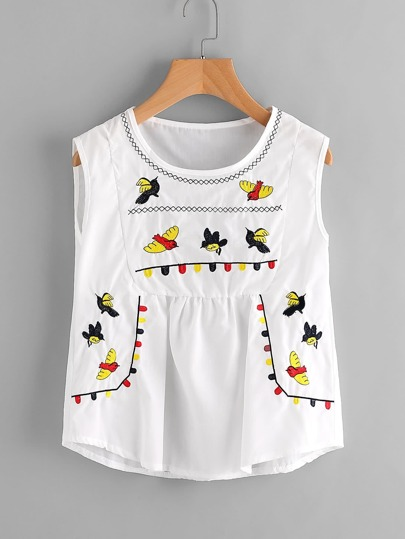Brids Embroidered Tank Top