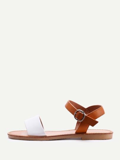 Sandalias de pu en dos tonos