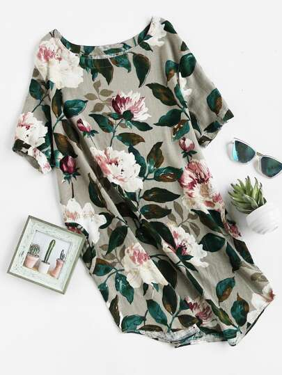 Vestio floreale con tasca