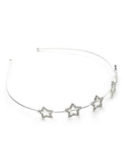 Rhinestone Star Design Delicate Headband