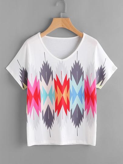 Tee-shirt imprimé abstrait