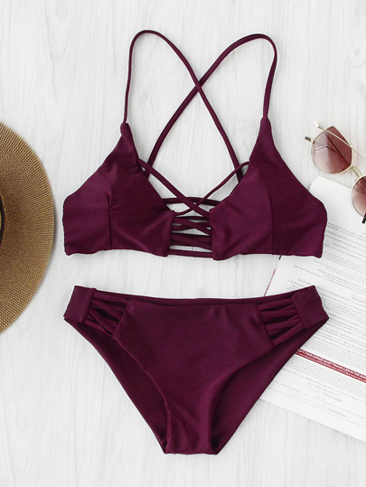 Set di bikini da spiaggia con cut-out