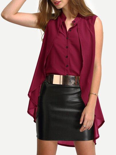 Модная шифоновая блуза