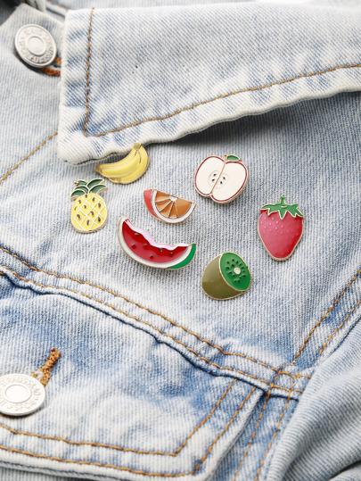 Obst geformtes Brosche Set