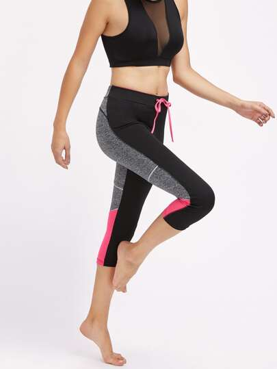 Active Marled Knit Panel Leggings