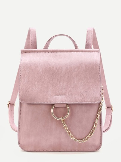 Ring Design PU Backpack