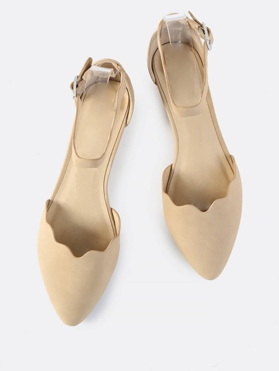 Closed Toe Squiggle Flats NATURAL