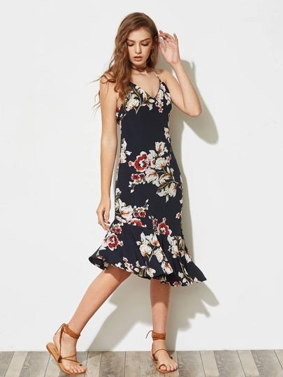 Vestito con stampa floreale
