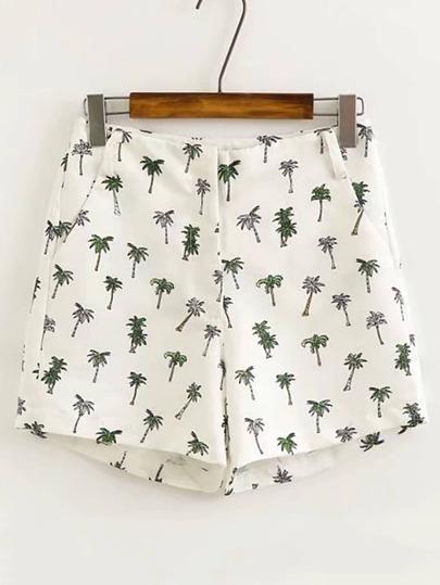 Shorts Bermuda imprimé des palmiers