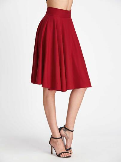 High Rise Wide Waistband Circle Skirt