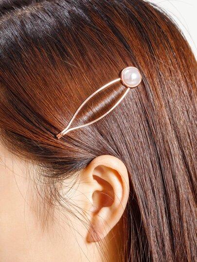 Fermaglio per capelli con perle sintetiche