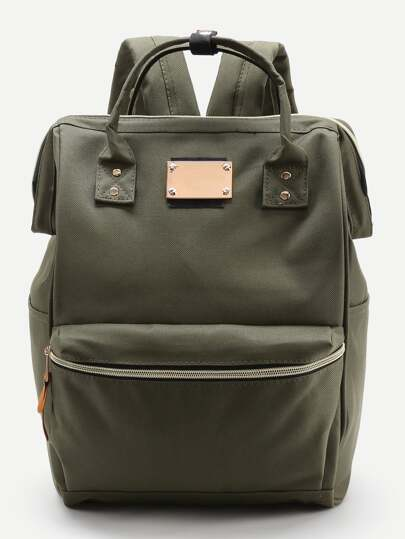 Double Handle Canvas Backpack