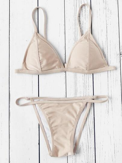Seam Triangle Bikini Set