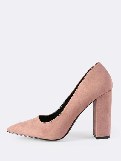 Closed Toe Chunky Heel DUSTY MAUVE