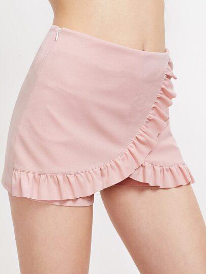 Falda-pantalón con volantes