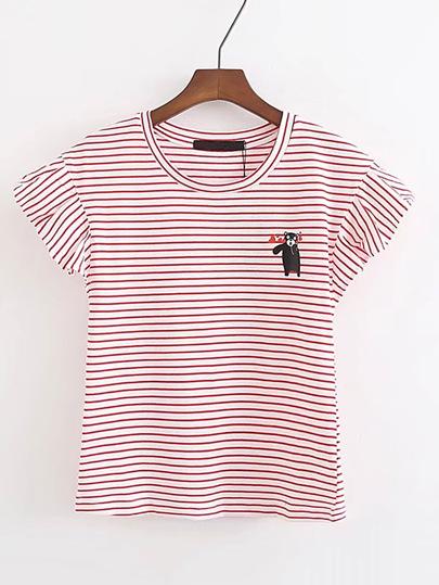 Camiseta de rayas con estampado