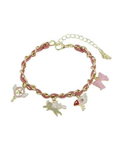 Enamel Angle Anchor Bow Shape Charms Bracelets