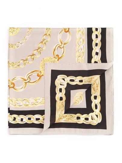 Chain Print Satin Bandana