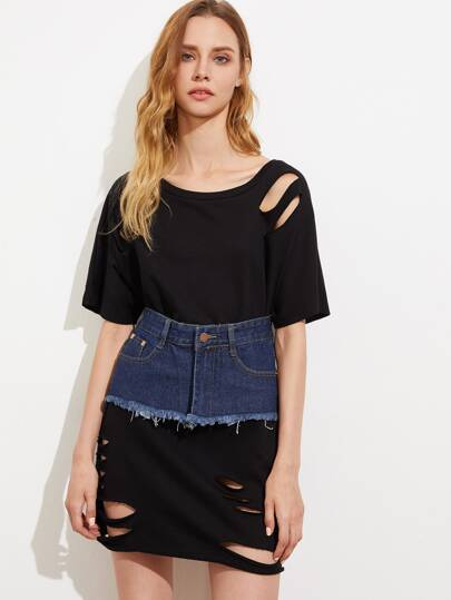 Denim Skirt Style Corset Belt