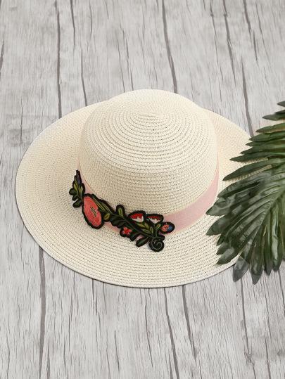 Sombrero de paja de bordado