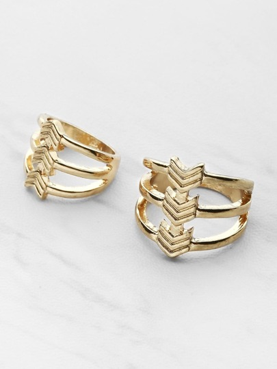 Chevron Cutout Ring Pack 2pcs
