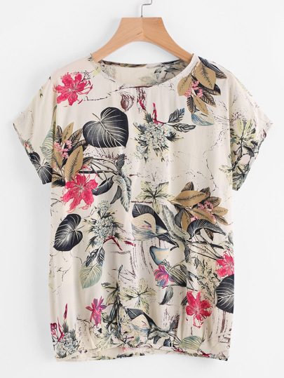 Floral Print Tee