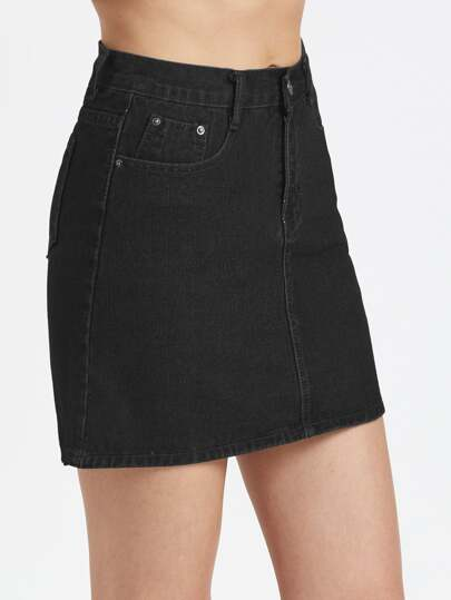 5 Pocket Denim Skirt