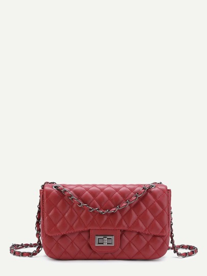 Quilted Crossbody Chain Bag